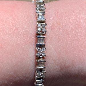 Zales Jewelry - Diamond and 14K White Gold Tennis Bracelet